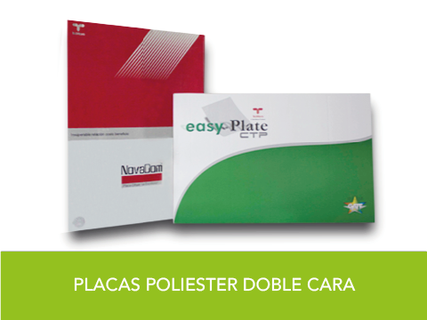 Placa Poliester Doble Cara